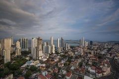 City skyline at Panama City Stock Photography