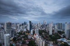 City skyline at Panama City Royalty Free Stock Photo