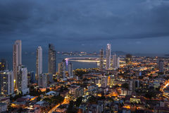 City skyline at Panama City Stock Photos