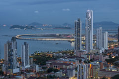 City skyline at Panama City Royalty Free Stock Photo