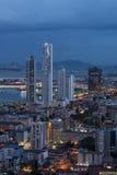 City skyline at Panama City Royalty Free Stock Images