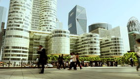 City skyline panorama view. modern business district stock video footage
