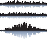 City skyline reflect on water Royalty Free Stock Photo