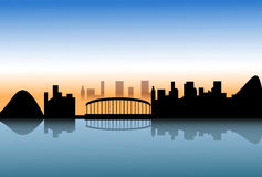 City skyline reflect on water Royalty Free Stock Images