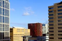 City skyline of Rotterdam center Royalty Free Stock Photo