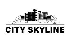 City skyline set. royalty free illustration