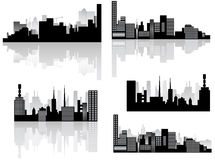 City skyline and shadow Royalty Free Stock Images