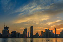 City skyline Sharja UAE Royalty Free Stock Photography