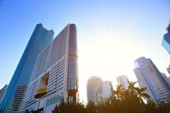 City skyline in shenzhen city Royalty Free Stock Photography