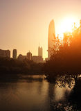 City skyline in shenzhen city Stock Photography