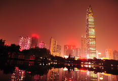 City skyline in shenzhen city Royalty Free Stock Photography