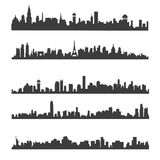 City skyline silhouette Royalty Free Stock Photo