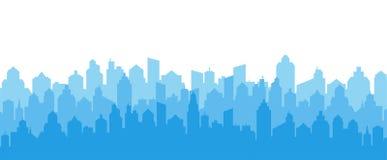 City skyline silhouette. City landscape template. Urban landscape. Vector illustration. stock photos