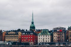 City Skyline in Stockholm Sweden royalty free stock image
