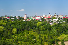 City skyline. Suceava city skyline in summer Stock Image