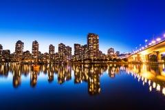 City Skyline at Sunset Royalty Free Stock Photography