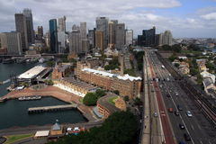 City skyline - Sydney, Australia. City of Sydney, Australia, from the Sydney Harbour Bridge Stock Image