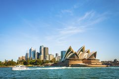 The city skyline of Sydney, Australia. Circular Quay and Opera House.  stock images
