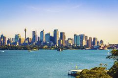 The city skyline of Sydney, Australia. Circular Quay and Opera House.  stock photography