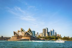 The city skyline of Sydney, Australia. Circular Quay and Opera House.  stock image