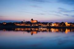 City Skyline of Torun at Dusk in Poland Royalty Free Stock Image