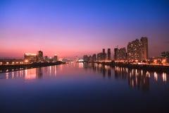 City skyline at twilight Royalty Free Stock Photos