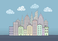 City skyline vector illustration Royalty Free Stock Images
