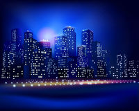 City skyline. Vector illustration. City skyline at night. Vector illustration Royalty Free Stock Image