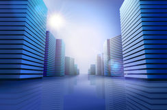 City skyline. Vector illustration Royalty Free Stock Photography