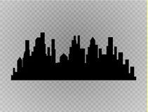 City skyline vector illustration. Urban landscape. Daytime cityscape in flat style Stock Photography