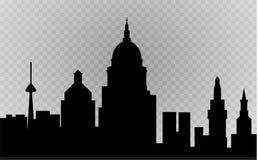 City skyline vector illustration. Urban landscape. Daytime cityscape in flat style Stock Images