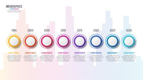 City skyline vector 8 steps infographic timeline. City skyline vector 8 steps infographic design, timeline chart, presentation template on white background Stock Photos