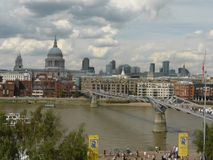 View of St Pauls Cathedral London England Stock Images