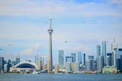 City skyline view Toronto Ontario Canada. City skyline view from Toronto Island, Toronto Ontario Canada Stock Photo
