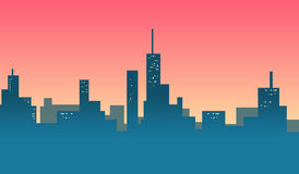 City skylines background banner Royalty Free Stock Photos