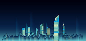 City skylines background vector illustration. flat city building Royalty Free Stock Images