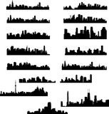 City skylines collection. Vector illustration Stock Photo
