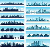 City skylines panoramic Royalty Free Stock Photos