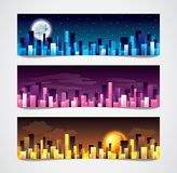 City skylines vector banners Stock Images