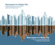 City skylines. vector illustration Royalty Free Stock Photography