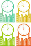 City skyscraper with clock Stock Images