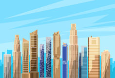 City Skyscraper View Cityscape Skyline Vector Stock Photography