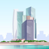 City Skyscraper View Cityscape Skyline Vector Royalty Free Stock Photography