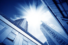 City skyscrapers Stock Images