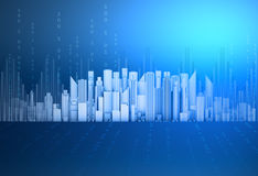 City of skyscrapers with abstract background Stock Images