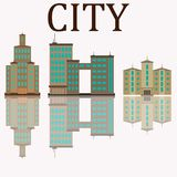 City of skyscrapers, building an stock illustration