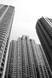 City Skyscrapers. Chicago skyscrapers in perspective from below Royalty Free Stock Photo