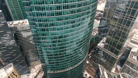 City Skyscrapers. Urban Office Buildings from copter. stock footage