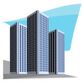 City skyscrapers vector illustration Stock Photo