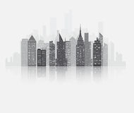 City skyscrapers view Royalty Free Stock Image